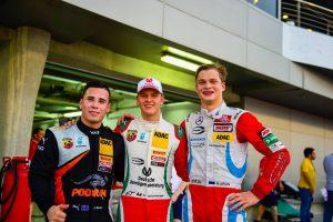 Joey Mawson with Mick Schumacher and Ralf Aron
