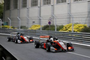Joey Mawson aboard his Van Amersfoort Racing Dallara on the Pau street circuit