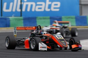 PODIUM-backed driver Joey Mawson in action during Round Four in Hungary