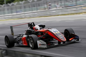 PODIUM-backed driver Joey Mawson in action at the Norisring